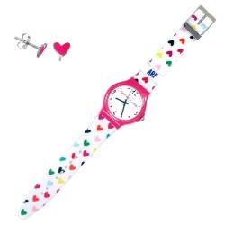Juego Agatha Ruiz de la Prada reloj AGR219 pendientes plata [AB6022]