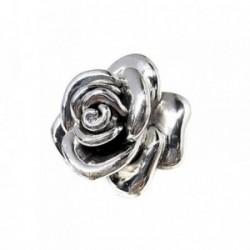 Colgante plata Ley 925m rosa 43mm. electroforming lisa [AB5240]