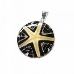 Colgante plata Ley 925m concha motivo estrella mar [AB5247]