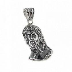 Colgante plata Ley 925m Cristo San Gonzalo 25mm. oxidado [AB5291]