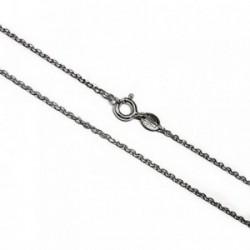 Cadena plata Ley 40cm. forzada rodiada [AB5318]