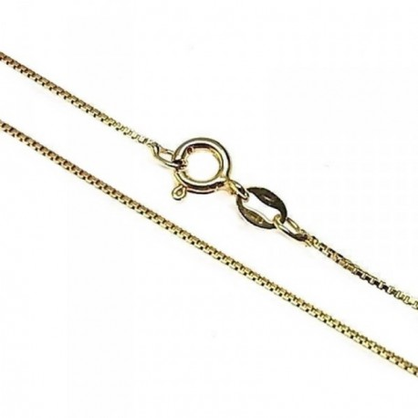 Cadena plata Ley 925m 40cm. modelo veneciana chapada [AB5321]