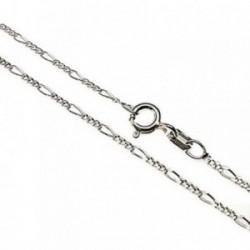 Cadena plata Ley 925m 40cm. lisa alternada 3x1 [AB5324]
