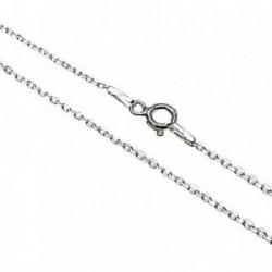 Cadena plata Ley 925m 50cm. forzada [AB5328]
