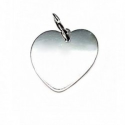 Colgante plata Ley 925m chapa corazón 18mm. liso [AB5330]