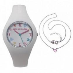 Juego Agatha Ruiz de la Prada reloj AGR227 colgante plata [AB6224]