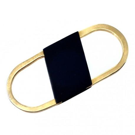 Llavero metal dorado 6cm. ovalado [AB6031]