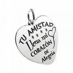 Colgante plata Ley 925m chapa corazón motivo globo corazón [AB5378GR]