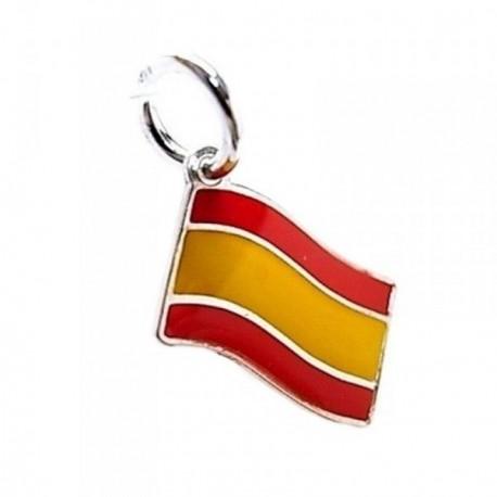 Colgante plata Ley 925m esmaltado bandera España [AB5388]