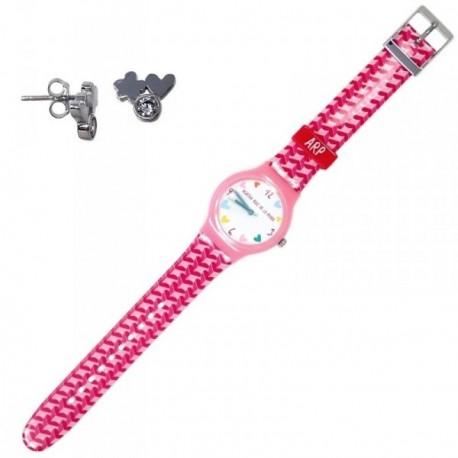 Juego Agatha Ruiz de la Prada reloj AGR200 pendientes plata [AB6239]
