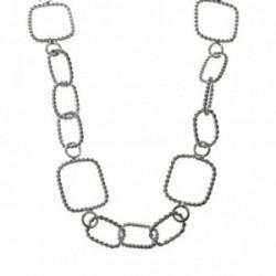 Gargantilla plata Ley 925m asas reliadas 69cm. [AB6041]