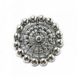 Broche plata Ley 925m oxy charro [AB6044]