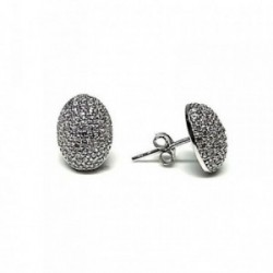 Pendientes plata Ley 925m rodio microengaste 11mm. [AB6054]