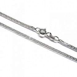 Cadena plata Ley 925m 50cm. marina martilleada lisa [AB6067]