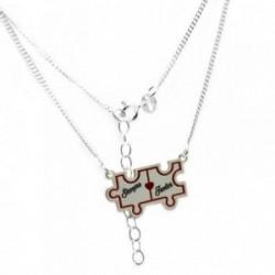 Gargantilla plata Ley 925m 39cm. puzzle SIEMPRE JUNTOS [AB6121]