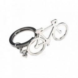 Llavero plata Ley 925m 45mm. bicicleta lisa cadena rolo [AB6128]