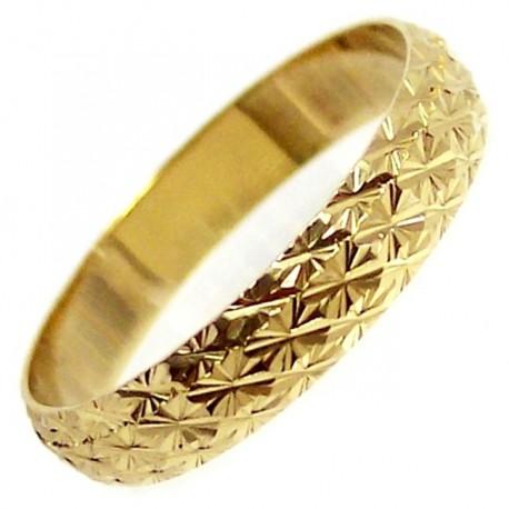 Alianza oro labrada [4710]