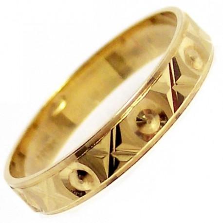 Alianza oro labrada [4711]