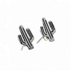 Pendientes plata Ley 925m 12mm. cactus [AB6191]