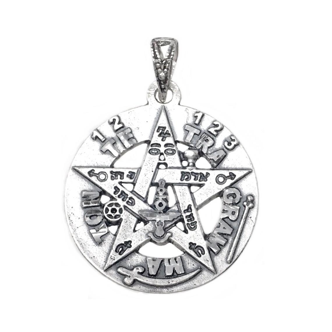 Colgante TETRAGRAMATON plata de ley talism/án de protecci/ón personal poderoso amuleto