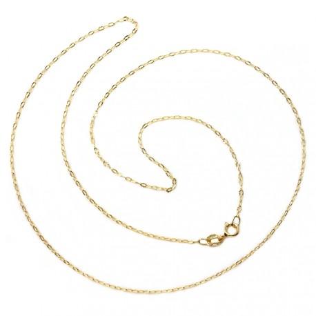 Cadena oro 18k maciza forzada 45 cm. 1 mm. 1.10 grs. [9448]