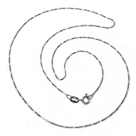Cadena plata Ley 925m 45cm. veneciana rodiada ancho 0.65mm. unisex cierre reasa