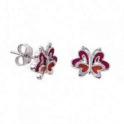 Pendientes plata Agatha Ruiz de la Prada 12mm. mariposa [AB7148]