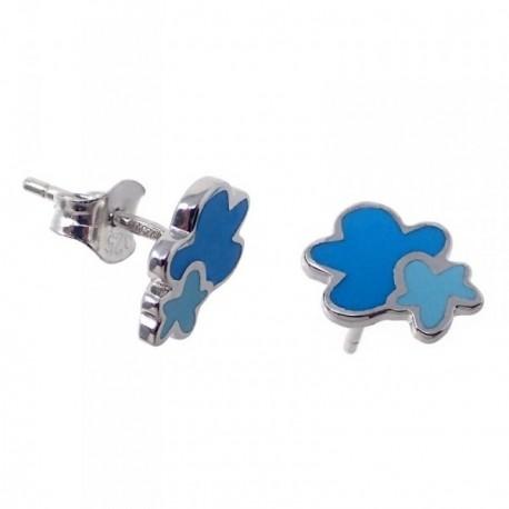 Pendientes plata Agatha Ruiz de la Prada 9mm. nubes azules [AB7149]