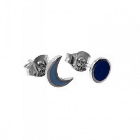 Pendientes plata Agatha Ruiz de la Prada media luna eclipse [AB7151]