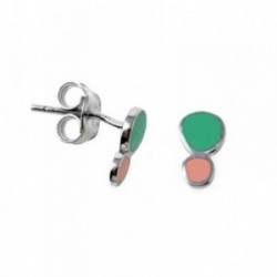 Pendientes plata Agatha Ruiz de la Prada 9mm. círculos [AB7154]
