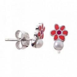 Pendientes plata Agatha Ruiz de la Prada 9mm. flor perlas [AB7162]