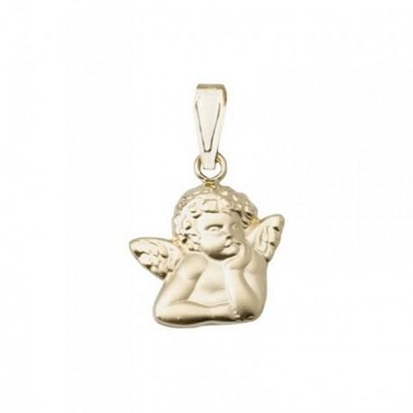 Colgante oro 18k ángel Querubín liso [AB7081]