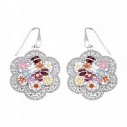 Pendientes plata Ley 925m largos flores mariquita mariposa [AB6443]