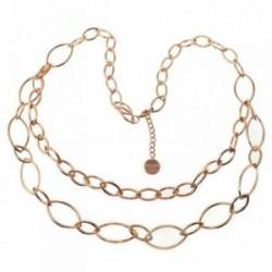 Collar Pertegaz colección Tears mujer doble cadena oval [AB7170]