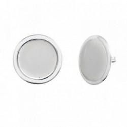 Pendientes plata Ley 925m 19mm. esmaltados [AB6480]
