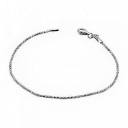 Pulsera plata Ley 925m cadenita sencilla [AB6780]