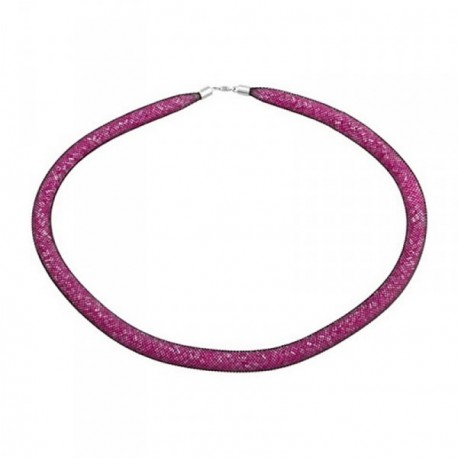 Pulsera plata Ley 925m amistad piedras rosa [AB6809]