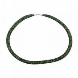 Pulsera plata Ley 925m amistad piedras verde [AB6810]
