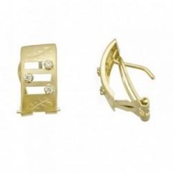Pendientes oro 18k anchos calados circonitas [AB7029]