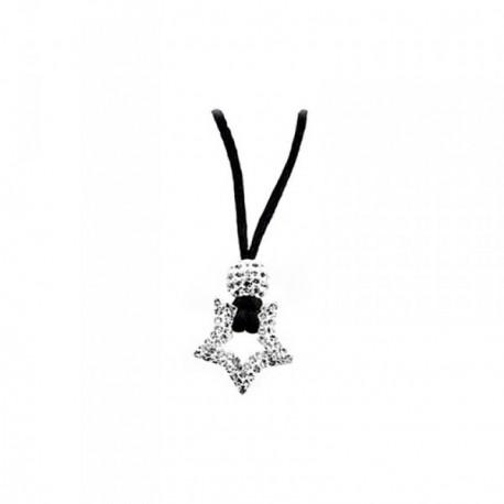 Colgante plata Ley 925m estrella circonitas cordón [AB6816]
