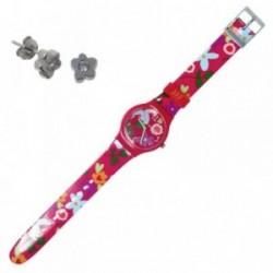 Juego Agatha Ruiz de la Prada reloj AGR203 pendientes plata [AB7240]