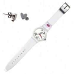 Juego Agatha Ruiz de la Prada reloj AGR216P pendientes plata [AB7252]
