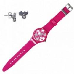 Juego Agatha Ruiz de la Prada reloj AGR217P pendientes plata [AB7255]