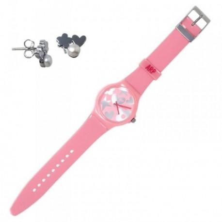 Juego Agatha Ruiz de la Prada reloj AGR218P pendientes plata [AB7257]