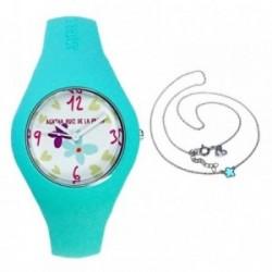 Juego Agatha Ruiz de la Prada reloj AGR225 gargantilla plata [AB7262]