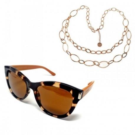 Juego Pertegaz gafas sol PZ20019 595 collar doble cadena [AB7264]