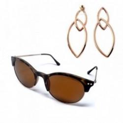 Juego Pertegaz gafas sol PZ20020 595 pendientes Tears oval [AB7266]