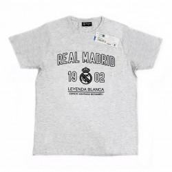 Camiseta Real Madrid adulto gris LEYENDA BLANCA [AB7228]
