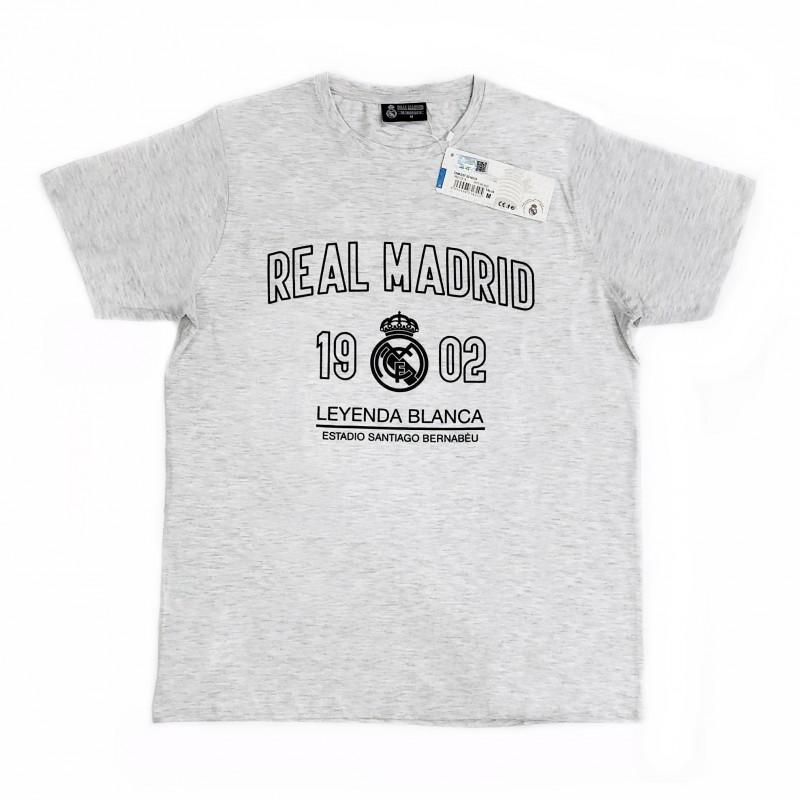 Camiseta Real Madrid adulto gris LEYENDA BLANCA  AB7228  fd74fa45c56