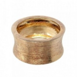 Sortija plata Ley 925m cilindro chapada oro mate talla 16 [AB7190]